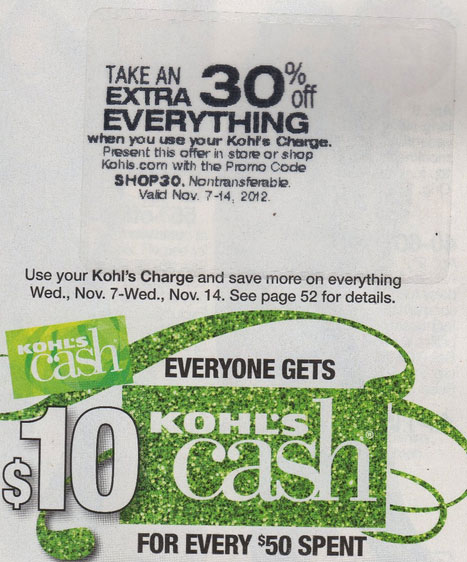 Kohl's 30 off coupon code